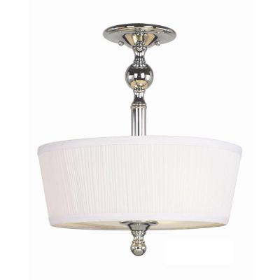 Hampton Bay Locksley Collection 3-Light Chrome Semi Flush Mount-DISCONTINUED