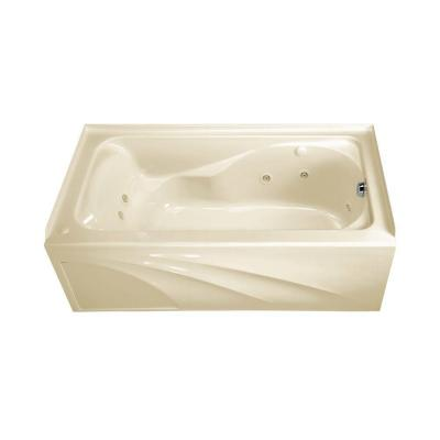 Cadet 5 ft. x 32 in. Left Drain EverClean Whirlpool Tub