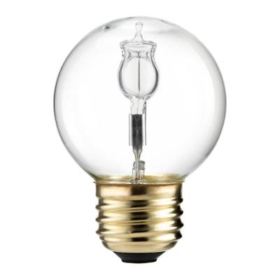 Philips 40 Watt Equivalent Halogen G16.5 Clear Decorative Globe Light Bulb (2-Pack)