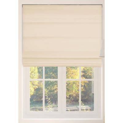 Arlo Blinds Pebble Beach Cordless Bottom Up Light Filtering with Backing Fabric Roman Shades