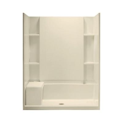 STERLING Accord Seated 36 in. x 60 in. x 74-1/2 in. Shower Kit in Almond