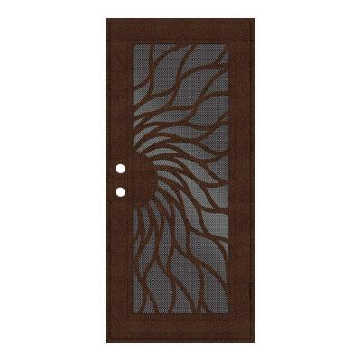 Sunfire Copperclad Surface Mount Aluminum Security Door with Perforated Aluminum Screen