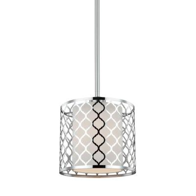 Jourdanton 1-Light Brushed Nickel Mini Pendant Product Photo