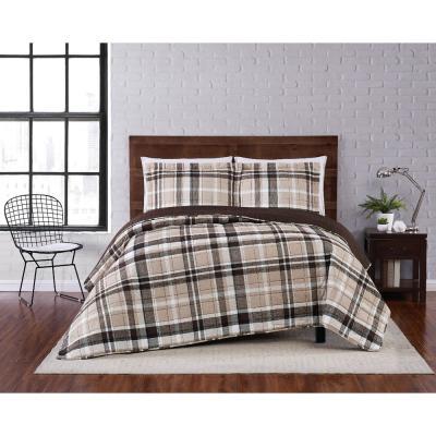 Paulette Plaid Microfiber Quilt Set