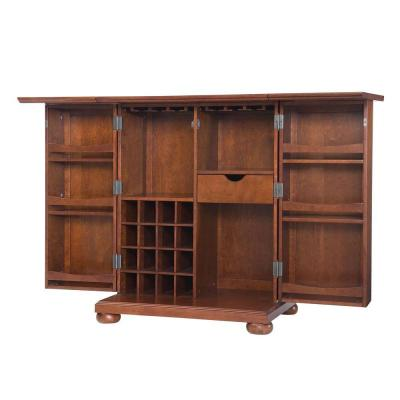 Alexandria Expandable Bar Cabinet in Cherry Product Photo