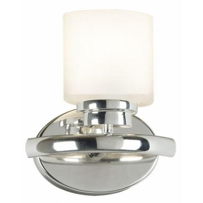 Kenroy Home Bow 9 in. Polished Nickel 1 Light Sconce 03390