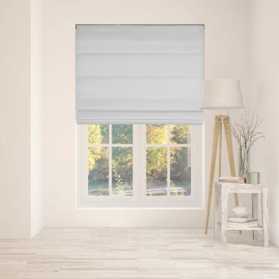 Gray Cordless Bottom Up Light Filtering with Backing Fabric Roman Shades