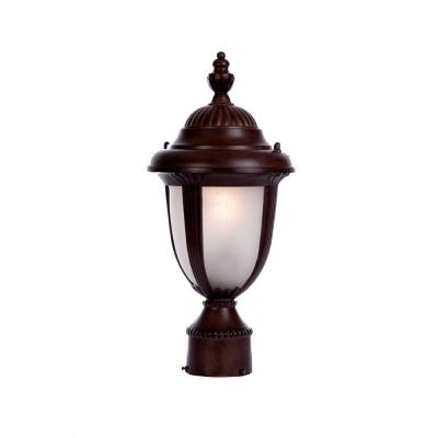 Acclaim Lighting Monterey Collection Post-Mount 1-Light Outdoor Burled Walnut Light Fixture