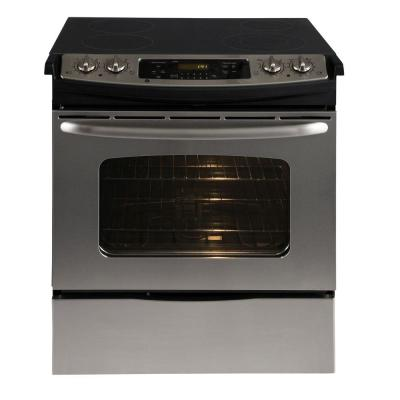 GE 4.4 cu. ft. Slide-In Electric Range with Self-Cleaning Oven in Stainless Steel