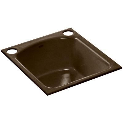 Napa Undermount Cast-Iron 19 in. 2-Hole Single Bowl Kitchen Sink in