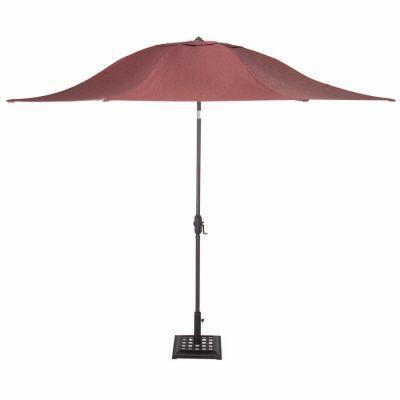 Martha Stewart Living Palamos 11 ft. Patio Umbrella in Berry-DISCONTINUED
