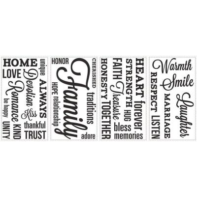 5 in. x 11.5 in. Family Quote Peel and Stick Wall Decal Product Photo