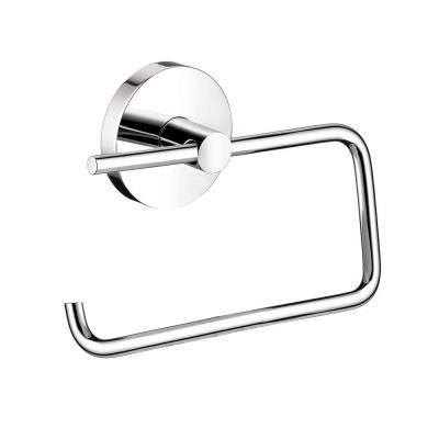Hansgrohe S/E Brass Single-Post Toilet Paper Holder in Chrome