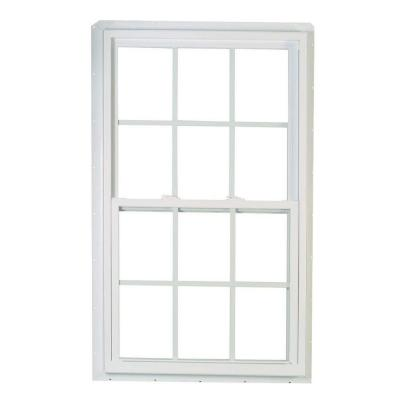 70 Series Double Hung Buck PRO White Vinyl Window with Grille