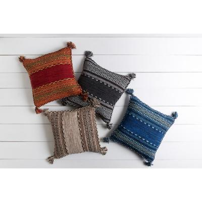 Ganale Striped Polyester Throw Pillow