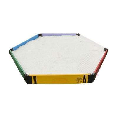 Frame It All Crayola 7 ft. x 8 ft. x 8 in. Composite Hexagonal Sandbox Kit
