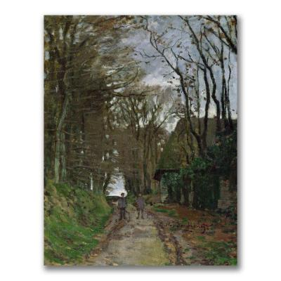 C1 in. x 8G in. Path in Normandy Canvas Art