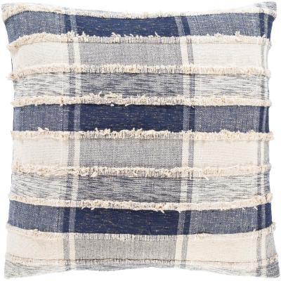 Aaisha Dark Blue Poly Throw Pillow