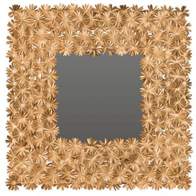 Crown Daisy 25 in. H x 25 in. W Square Framed