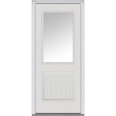 32 in. x 80 in. Classic Clear Glass 1/2 Lite 1-Panel