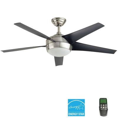 Home Decorators Collection Windward IV 52 in. Brushed Nickel Ceiling Fan