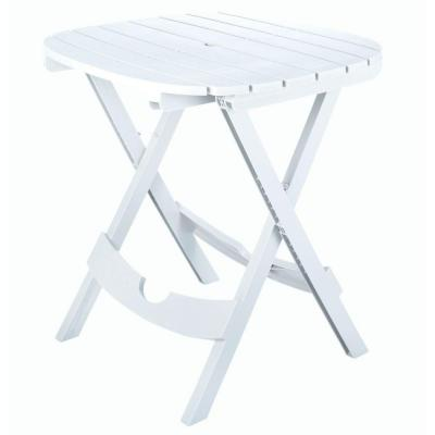 Adams Manufacturing Quik-Fold White Patio Cafe Table