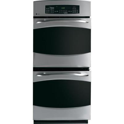 Profile 27 in. Double Electric Wall Oven with Self Cleaning and