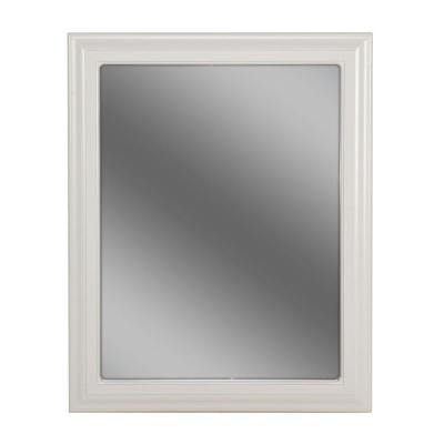 Providence 24 in. L x 30 in. W Framed Wall Mirror in White Product Photo