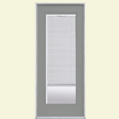 Masonite 32 in. x 80 in. Mini Blind Painted Steel Prehung Front Door with No Brickmold