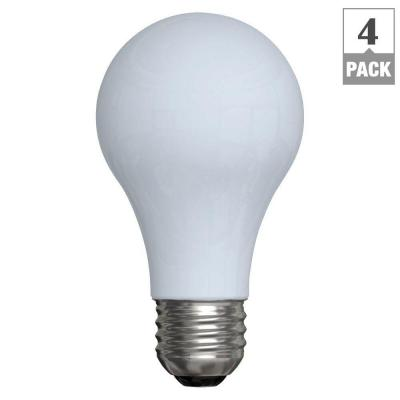 GE Reveal 60-Watt Halogen Equivalent A19 energy Efficient Reveal Light Bulb (4-Pack)