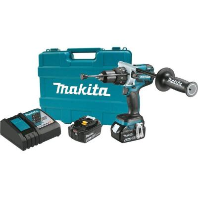 Makita 18-Volt LXT Brushless Lithium-Ion 1/2 in. Cordless Hammer Drill Kit