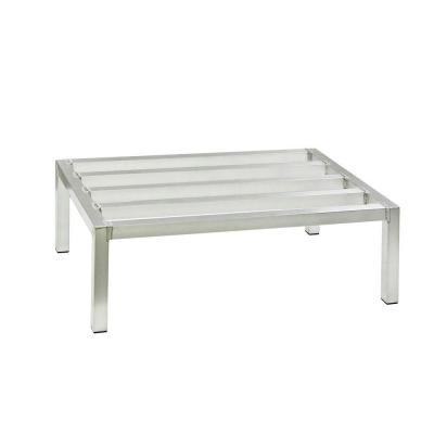 New Age Industrial 20 in. D x 60 in. H x 12 in. H Aluminum Stationary Dunnage Rack