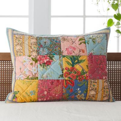 Rani Vintage Floral Cotton Patchwork Sham