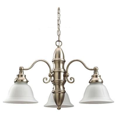 Sea Gull Lighting Canterbury 3-Light Brushed Nickel Single Tier Chandelier 31050-962