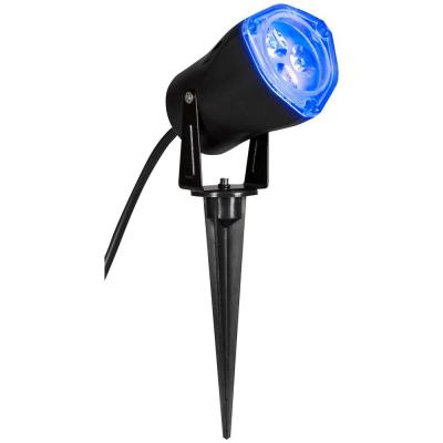 Home Accents Holiday 3.5 in. Light Blue LED Outdoor Spotlight