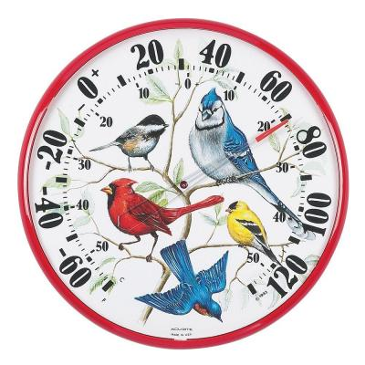 12.5 in. Songbirds Analog Thermometer