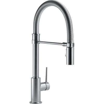 Delta Trinsic Single-Handle Pull-Down Sprayer Kitchen Faucet with Spring Spout in Arctic Stainless
