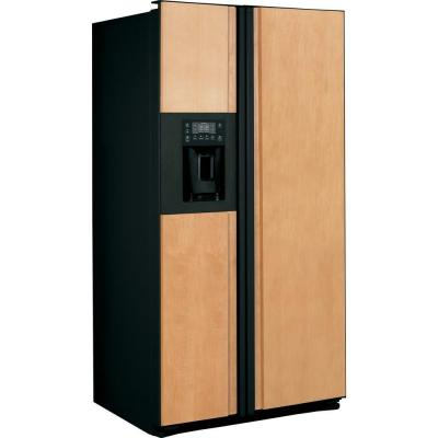 GE Profile 23.34 cu. ft. Side by Side Refrigerator in Black, Counter Depth