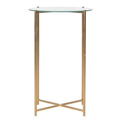 Sylvain Antique Gold Leaf Iron End Table Product Photo