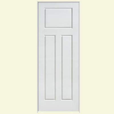 Masonite Solidoor Glenview Smooth 3 Panel Craftsman Solid Core Primed Composite Single Prehung