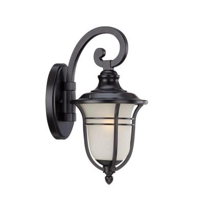 Acclaim Lighting Montclair Collection 1-Light Outdoor Matte Black Wall Mount Light