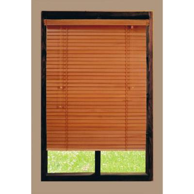 Home Decorators Collection Cut To Width White 2 In Faux Wood Blind 34 In W X 64 In L