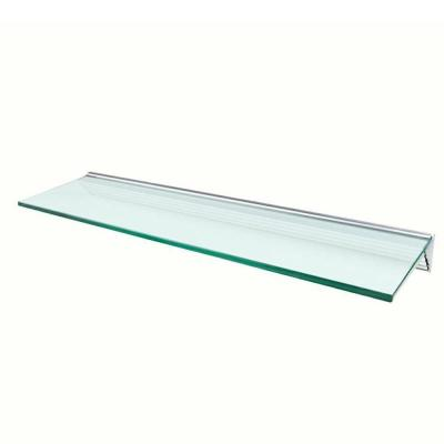 Wallscapes Glacier Opaque Glass Shelf with Silver Bracket Shelf Kit (Price Varies By Size)