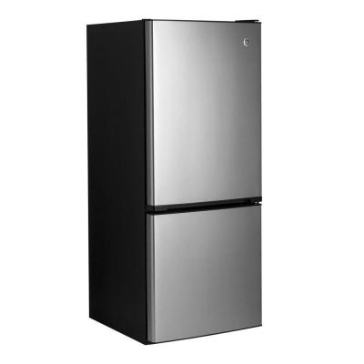 GE 24 in. 10.5 cu. ft. Bottom Freezer Refrigerator in Stainless Steel