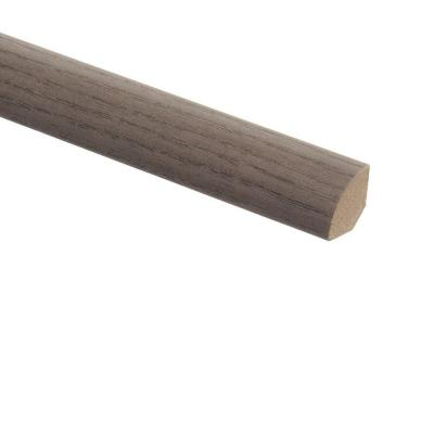 Satin Oak 5/8 in. Thick x 3/4 in. Wide x 94 in. Length Vinyl Quarter Round Molding Product Photo