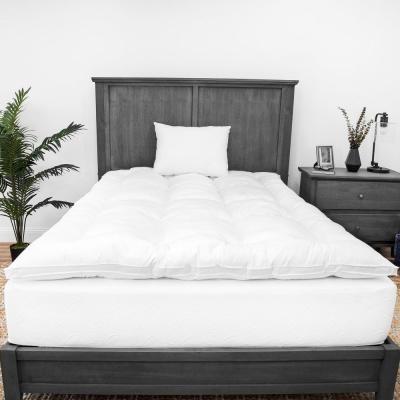 2 in. Down Alternative Fiber Mattress Topper and Fiber Pillow Bundle