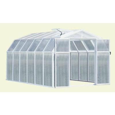 Rion Hobby 8 ft. 6 in. x 12 ft. 7 in. Premium Package White Frame Greenhouse-DISCONTINUED