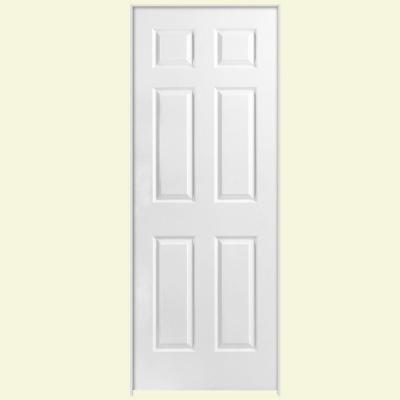 Solidoor Textured 6-Panel Solid Core Primed Composite Single Prehung Interior Door