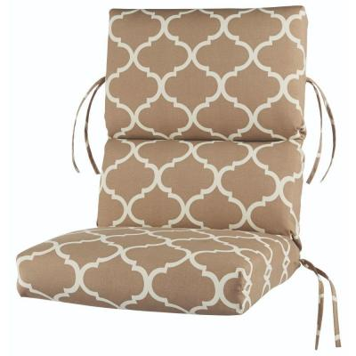 Landview Taupe Outdoor Lounge Chair Cushion