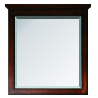 Tropica 31 in. x 32 in. Beveled Edge Single Mirror in Antique Brown Product Photo